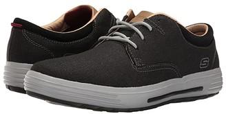Skechers Classic Fit Porter - Zevelo (Black Canvas) Men's Shoes