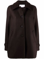 Thumbnail for your product : Harris Wharf London Single-Breasted Virgin Wool Coat