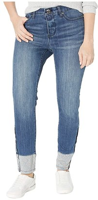Seven7 Adaptive Adaptive Mid-Rise Ankle Skinny Jeans w/ Magnetic Closure and Embellished Cuff in Solstice (Solstice) Women's Jeans