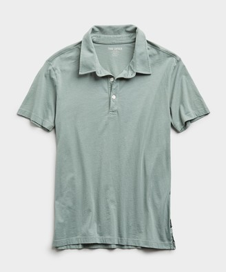 Todd Snyder Made In L.A. Short Sleeve Jersey Polo in Pistachio