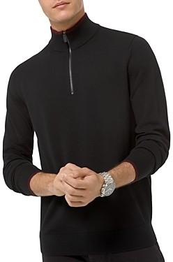 Michael Kors Quarter Zip Merino Wool Sweater