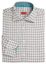 Isaia Regular-Fit Gingham Dress Shirt