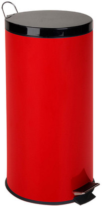 Honey-Can-Do 30L Red Metal Step Trash Can