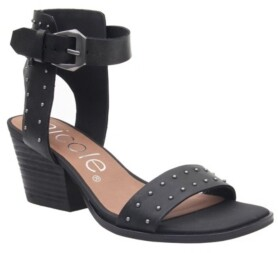 Nicole Amabel Double Strap Low-Heeled Sandal Women's Shoes