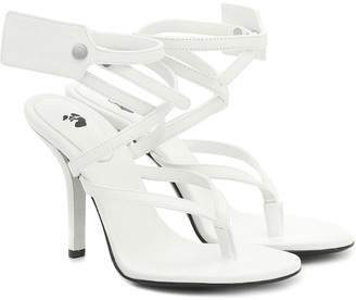 Off-White Ziptie leather sandals