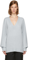 Rag & Bone Blue Cashmere Ace V-neck Sweater