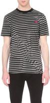 McQ by Alexander McQueen Broken stripe cotton t-shirt