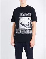 Mcq Alexander Mcqueen Gothic-print Cotton-jersey T-shirt