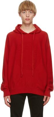 Versace Red Cashmere Medusa Hoodie