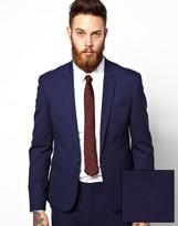 Asos Skinny Fit Suit Jacket In Navy