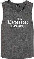 The Upside Rissa Printed Stretch-jersey Tank - Gray