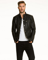 Le Château Leather-Like Zip-Front Jacket