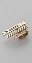 House Of Harlow 1960 Engraved 3 Stack Ring