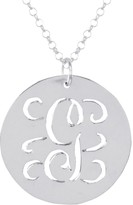 Sterling Silver Personalized Initial Script Pendant