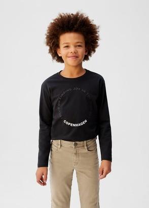 MANGO Slim-fit cotton pants ice grey - 5 - Kids