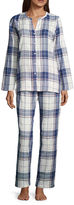 Liz Claiborne 2-pc. Plaid Pant Pajama Set