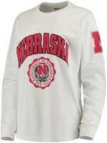 Unbranded Women's White Nebraska Cornhuskers Edith Long Sleeve T-Shirt