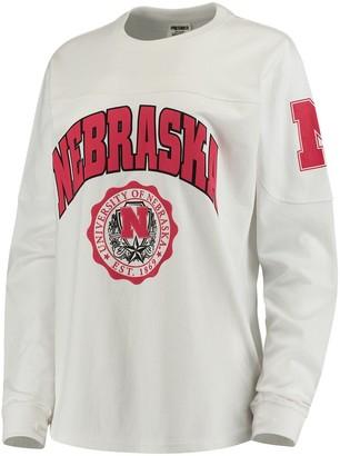 Women's White Nebraska Cornhuskers Edith Long Sleeve T-Shirt