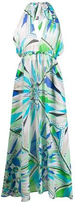 Emilio Pucci Abstract Print Halterneck Dress