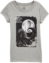 Jerry Leigh Nightmare Before Christmas Gray Heather Poster Tee - Juniors