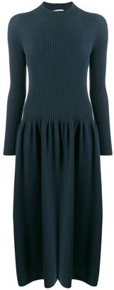 Agnona Ribbed Sweater Dress