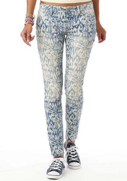 Delia's Indigo Tribal Print Skinny Jean