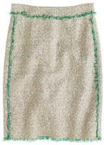 J.Crew Cream glimmer tweed mini