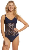 Robin Piccone Sophia Mitered One Piece Swimsuit 8143286