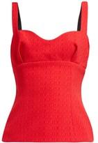 Emilia Wickstead Madeleine Red Strap Top - Womens - Red