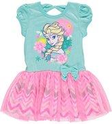 """Disney Frozen Little Girls' Toddler """"Chevron Tulle"""" Dress"""