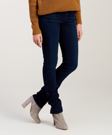 7 For All Mankind Dark Blue Kimmie Straight-Leg Jeans