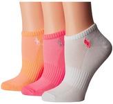Lauren Ralph Lauren Solid Low Cut 3-Pack w/ Arch Support Women's Low Cut Socks Shoes
