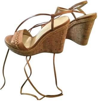 Stuart Weitzman \N Camel Leather Sandals