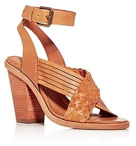Frye Women's Sara Criss-Cross Block-Heel Sandals