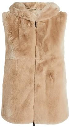 Peserico Rabbit Fur Padded Gilet
