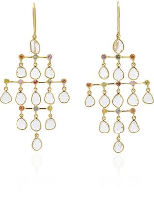 Amrapali Polki 18K Gold, Diamond And Sapphire Earrings