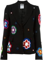 Moschino flower appliqué blazer - women - Polyester/Rayon/Triacetate - 44
