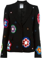Moschino flower appliqué blazer