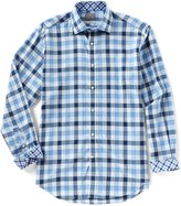 Thomas Dean Gingham Long-Sleeve Woven Shirt
