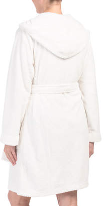 Dimple Plush Hooded Robe