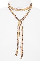 Chan Luu Women's Beaded Tie Necklace