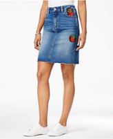 Buffalo David Bitton DIY Sequined Graphic Denim Skirt