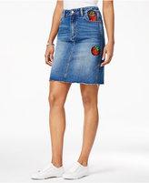 Buffalo David Bitton Diy Sequined Graphic Denim Skirt