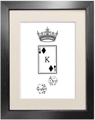 Emily Carter 'King Of Diamonds' - Fine Art Print A4