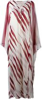 Tory Burch long kaftan dress - women - Polyester - 8