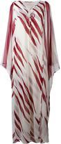 Tory Burch long kaftan dress - women - Polyester - 8