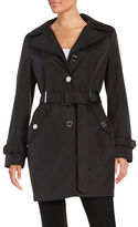 Calvin Klein Petite Hooded Trench Coat