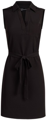 New York & Co. Tie-Front Belted Shirtdress