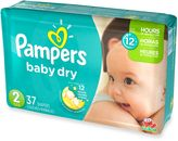Pampers Baby DryTM 37-Count Size 2 Jumbo Pack Disposable Diapers