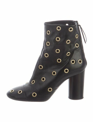 Isabel Marant Leather Studded Accents Boots Black
